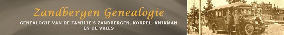 Zandbergen Genealogie